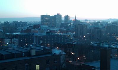 amanecer en Montreal