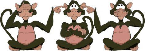 Los monos sabios poco van a avanzar sino quieren ver lo nuevo, oír ideas diferentes y hablar con gente distante